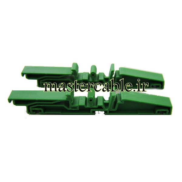 ابعاد خارجی 18×10×84 میلیمتر فاصله نقاط نصب انتهایی: 33.4 میلیمتر نام مدل: DRG02 مواد تشکیل دهنده: PVC مناسب برای ریل استاندارد 35 متعلقات: 2 براکت + 6 پیچ وزن یک جفت: 14 گرم