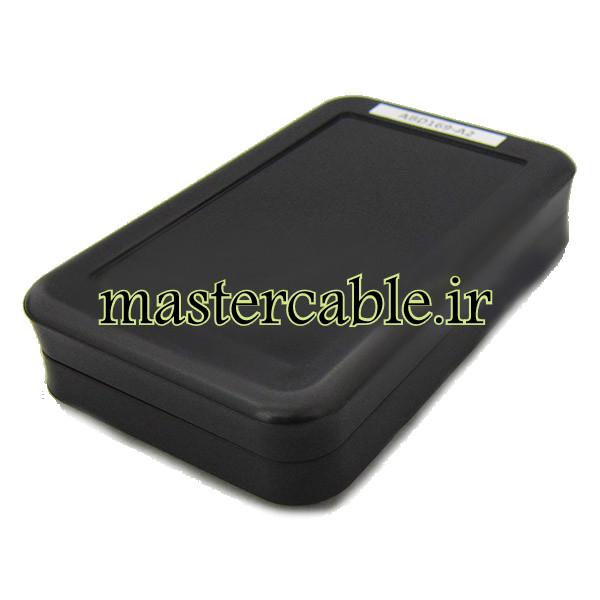 باکس پلاستیکی تجهیزات الکترونیکی رومیزی ABD169-A2 با ابعاد 27×79×123
