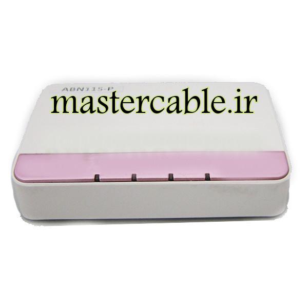 جعبه پلاستیکی کوچک مودم شبکه ABN115-P با ابعاد 25×76×118