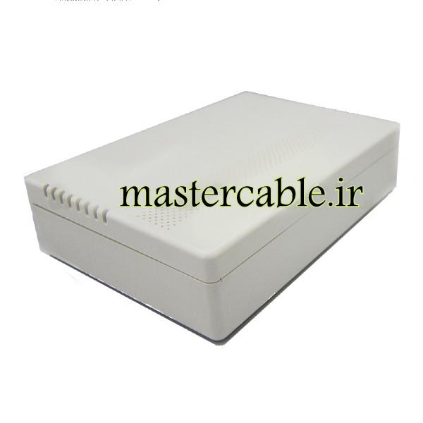 باکس پلاستیکی تجهیزات الکترونیکی رومیزی مدل ABD109-A1 با ابعاد 35×98×138