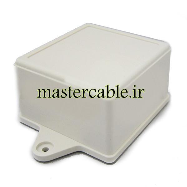جعبه مربعی پلاستیکی الکترونیکی دیواری ABM137-A1 با ابعاد 45×75×80